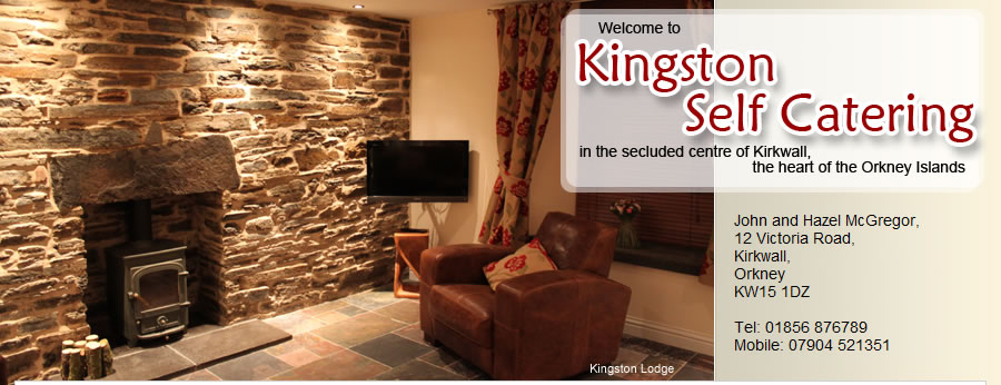 The sitting room in Kingston Lodge in Kirkwall, Orkney