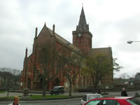 St Magnus Cathedral in Kirkwall in the Orkney Islands