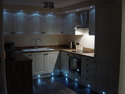The kitchen lighting at Kingston Self Catering in Orkney