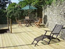 The decking at Kingston House - ideal for eating outside, reading or relaxing