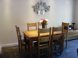 The handsome dining room at Kingston House